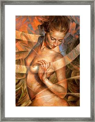 Nude Girl7 Framed Print by Arthur Braginsky