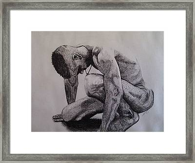 Nude II. Framed Print by Paula Steffensen
