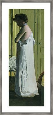Nude In An Interior Framed Print by Felix Edouard Vallotton