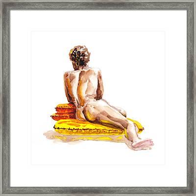 Nude Male Model Study Vi Framed Print by Irina Sztukowski
