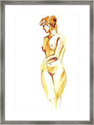 Nude Model Gesture II Framed Print by Irina Sztukowski