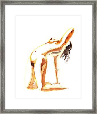 Nude Model Gesture IIi Framed Print by Irina Sztukowski