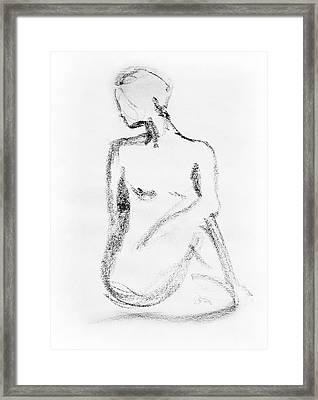 Nude Model Gesture Vi Framed Print by Irina Sztukowski