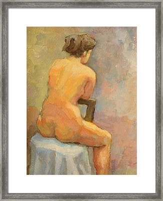 Nude Painting  4 Framed Print by Alfons Niex