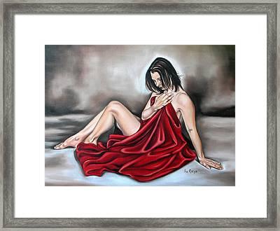 Nude Seventy Six Of Seven Framed Print by Ilse Kleyn