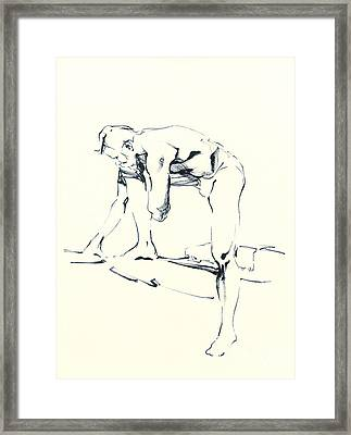 Nude Sketch Framed Print by Konstantin Boreo