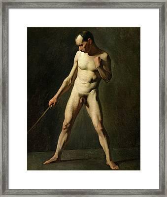 Nude Study Framed Print by Jean-Francois Millet
