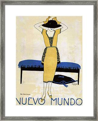 Nuevo Mundo  1920 1920s Spain Cc Womens Framed Print by The Advertising Archives