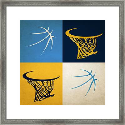 Nuggets Ball And Hoop Framed Print by Joe Hamilton