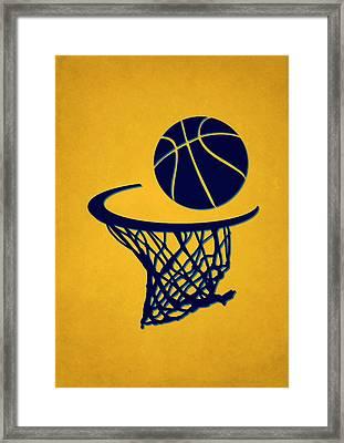 Nuggets Team Hoop2 Framed Print by Joe Hamilton