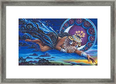 Nuit Queen Of Heaven Framed Print by Helga HedgeWalker