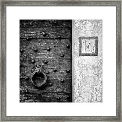 Number 16 Framed Print by Dave Bowman