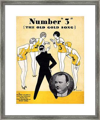 Number 3 The Old Gold Song Framed Print by Mel Thompson