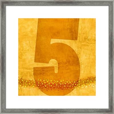 Number Five Flotation Device Framed Print by Carol Leigh