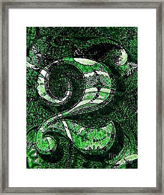 Number Two In Green  Framed Print by Chris Berry