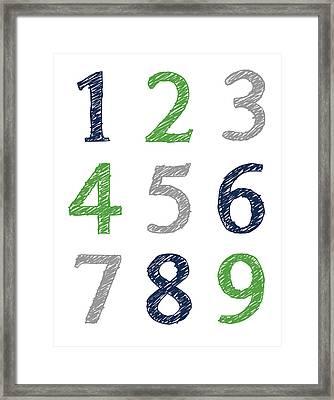 Numbers 123 Poster Framed Print by Jaime Friedman