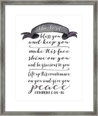 Numbers 6: 24-26 Framed Print by Tara Moss