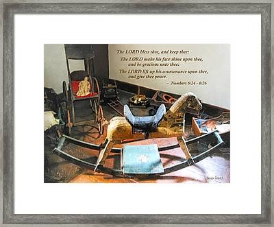 Numbers 6 24-26 The Lord Bless Thee And Keep Thee Framed Print by Susan Savad