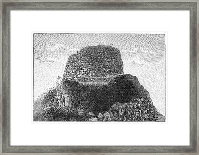 Nuraghe Losa Framed Print by Science Photo Library