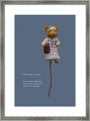 Nurse Mouse Framed Print by Sally Weigand