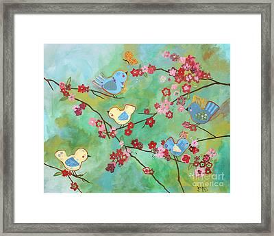 Nursery Birds Framed Print by Robert Melendes