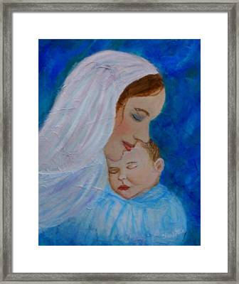 Nurturing Love Of A Mother  Framed Print by The Art With A Heart By Charlotte Phillips