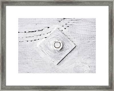 Nut And Bolt Framed Print by Tom Gowanlock