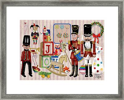 Nutcracker And Friends Framed Print by Arline Wagner
