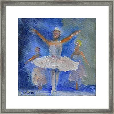 Nutcracker Ballet Framed Print by Donna Tuten