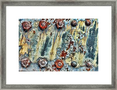 Nuts And Rivets  Framed Print by Olivier Le Queinec