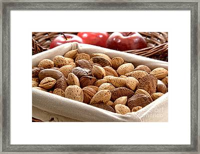 Nuts Framed Print by Olivier Le Queinec