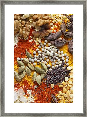 Nuts Pulses And Spices Framed Print by Paul Cowan
