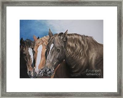 Nuzzle To Nuzzle Framed Print by Joni Beinborn