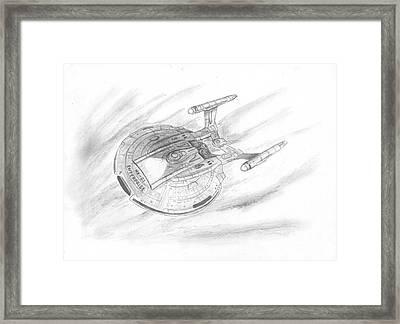 Nx-01 Enterprise Framed Print by Michael Penny