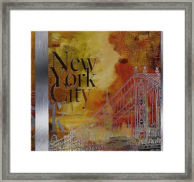 Ny City Collage - 6 Framed Print by Corporate Art Task Force