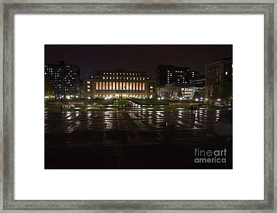 Nyc 4 - Butler Library Framed Print by Ami Fazchas