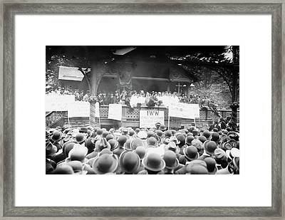 Nyc Barber Strike, 1913 Framed Print by Granger
