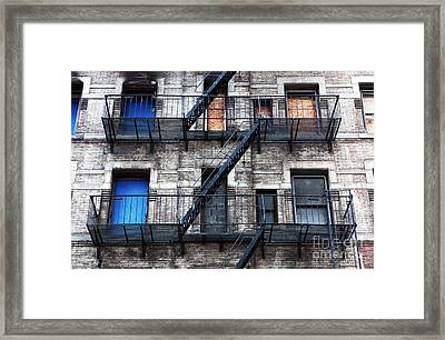 Nyc Escape Framed Print by John Rizzuto
