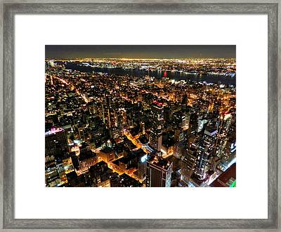 Nyc - From The Empire State Bldg. 002 Framed Print by Lance Vaughn