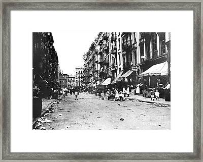 Nyc Lower East Side Framed Print by Granger