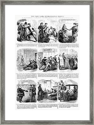 Nyc Police, 1859 Framed Print by Granger