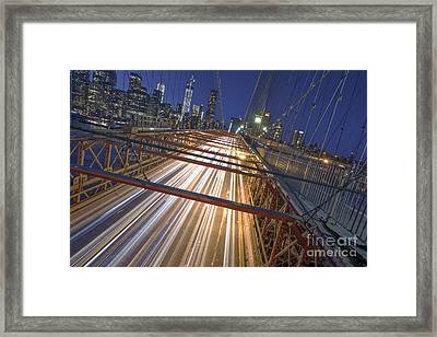Nyc Power Surge Framed Print by Marco Crupi