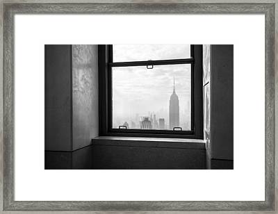 Nyc Room With A View Framed Print by Nina Papiorek