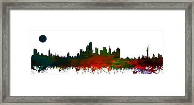 Nyc Skyline Framed Print by Celestial Images