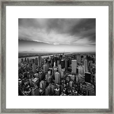 Nyc Uptown Framed Print by Nina Papiorek