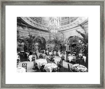 Nyc, Waldorf-astoria Hotel, Palm Framed Print by Science Source