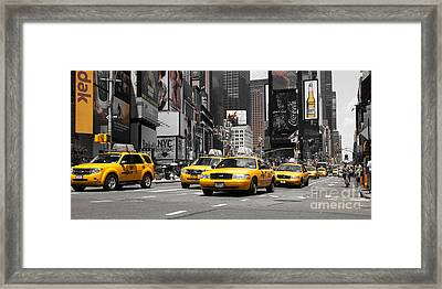 Nyc Yellow Cabs - Ck Framed Print by Hannes Cmarits