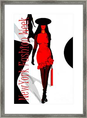 Nyfw Framed Print by Jose Luis Reyes
