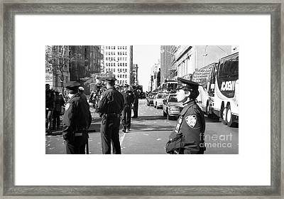 Nypd 1990s Framed Print by John Rizzuto