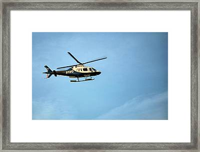 Nypd Aviation  Framed Print by JC Findley